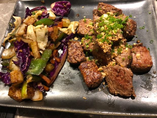 Beef tenderloin Tappanyaki